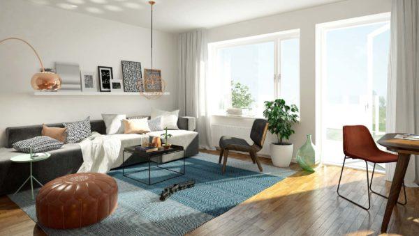 Wnętrze zaprojektowane przez firmę Smart Design. Nowoczesne mieszkanie w Bydgoszczy.