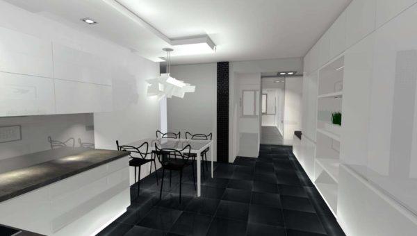Architekt wnętrz Sara Tokarczyk posiadająca biuro projektowe w mieście Bydgoszcz wykonała projekt wnętrz mieszkania.