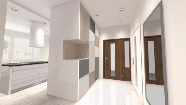 Projekt nowoczesnej kuchni autorstwa architekt wnętrz Sary Tokarczyk.