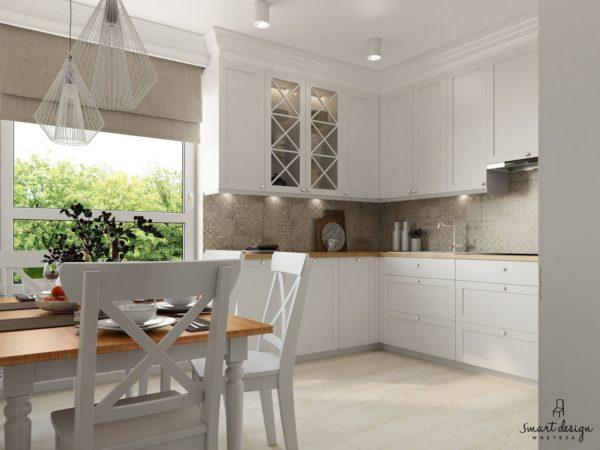 Prostota i elegancja - kuchnia klasyczna w kolorze białym - projekt na zamówienie