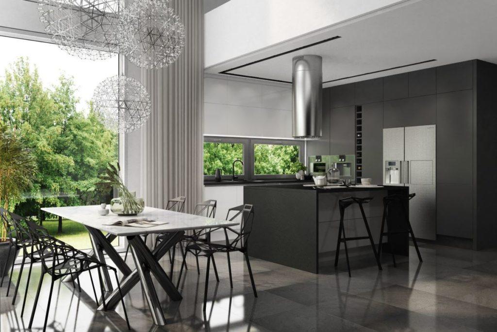 Eleganckie połączenie bieli i czerni - idealna kompozycja - klasyka i elegancja - meble kuchenne na zamówienie