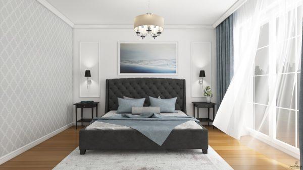 kompleksowy projekt sypialni smart design gdańsk