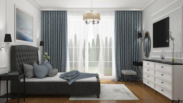 kompleksowy projekt sypialni w domku jednorodzinnym poznań smart design sara tokarczyk