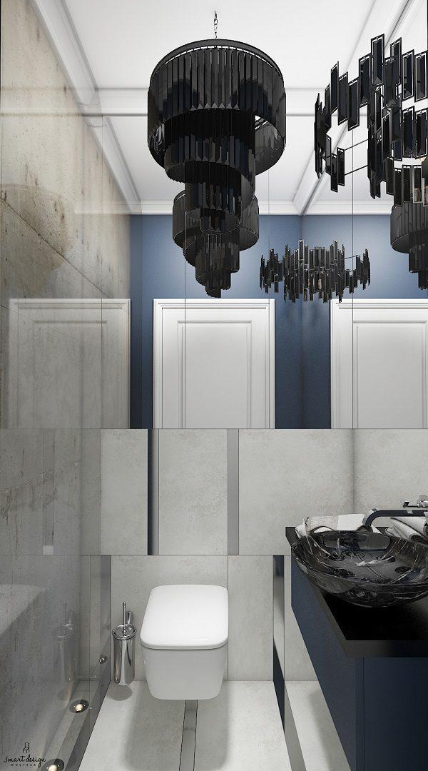 toaleta dla klientów w gdańsku zaprojektowane w studio smart design gdańsk